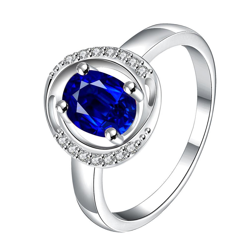 Mock Sapphire Circular Jewels Lining Ring Size 8