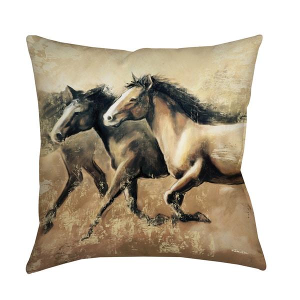 Thumbprintz galloping horses decorative pillow 0cb8c38e 4c0f 4c94 bc63 b1e1f1c88384 600