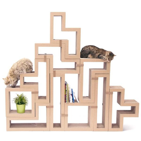 Katris: Modular Cat Scratching Furniture