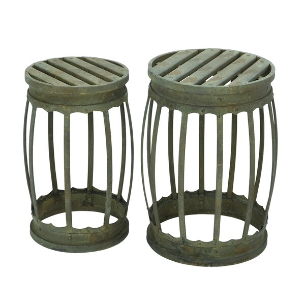 18 Inch Metal Stool Set Of 2 17255407 Overstock Com