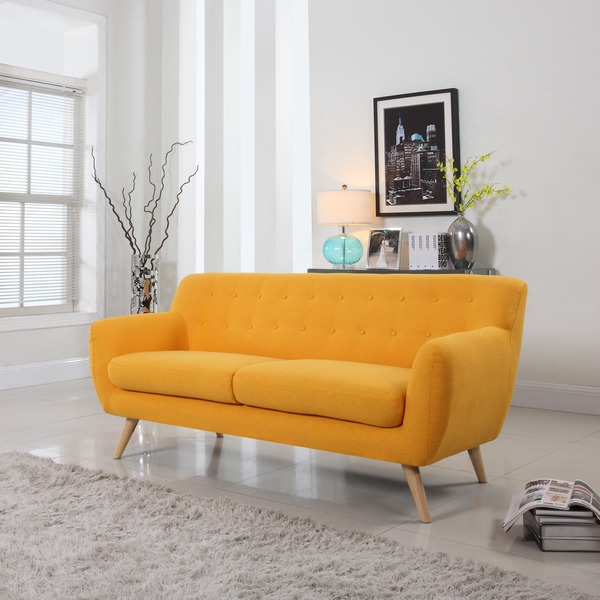 Mid century modern sofa living room furniture assorted colors