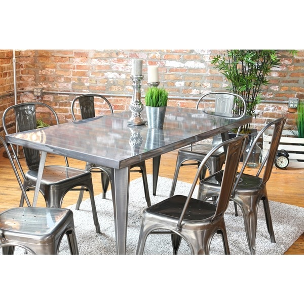 austin industrial dining table 59 inches wide x 32 inches deep 17260829. Black Bedroom Furniture Sets. Home Design Ideas