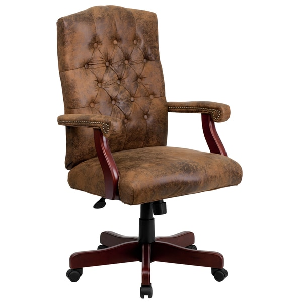 Overstock Office Furniture: Bomber Brown Classic Executive Office Chair