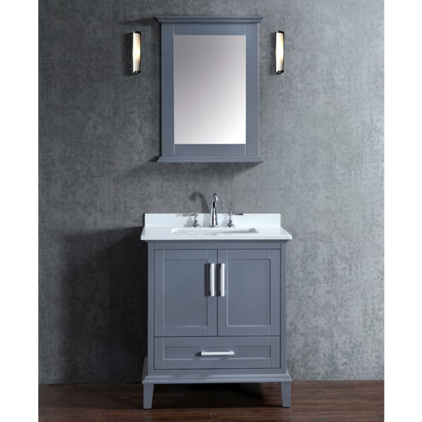Nantucket 30 inch whale grey free standing single sink - 30 inch single sink bathroom vanity ...