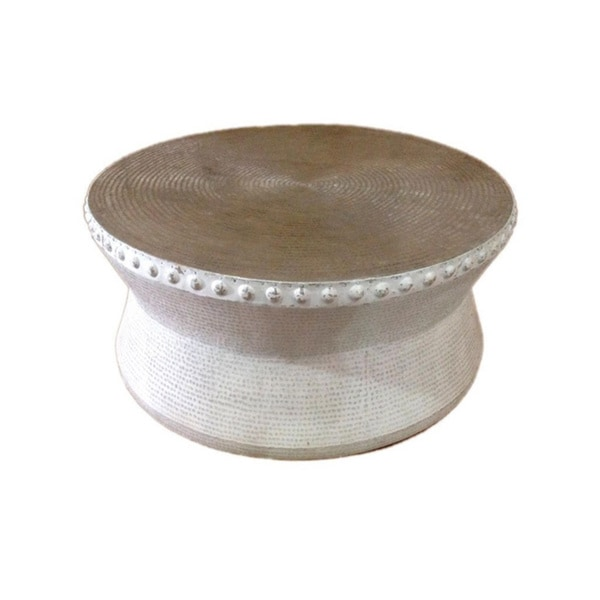 Hazlehurst Off White Round Coffee Table Overstock