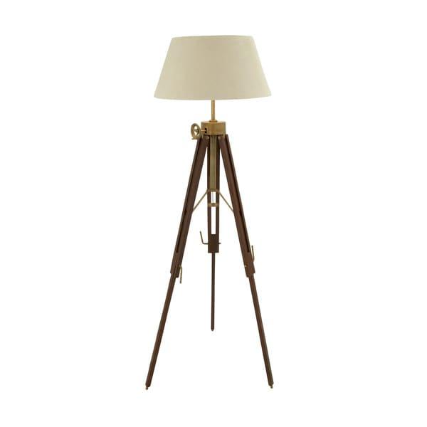 Exclusive Wood Aluminum Floor Tripod Lamp 17274863