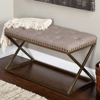 Healy Cream Bonded Leather Bench Prices Reviews Amp Deals