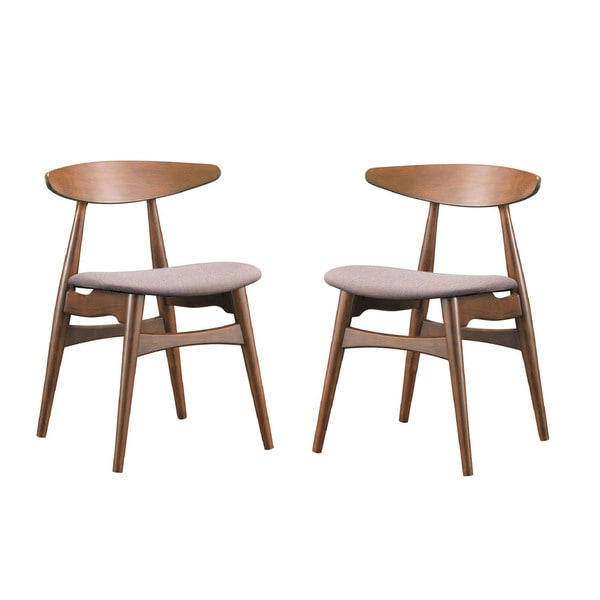 Set Of 2 Flamingo Mid Century Solid Wood Dining Chairs