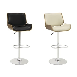 Bolton Mid Century Adjustable Upholstered Stool With