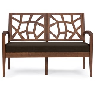 Baxton Studio Jennifer Dark Brown Wood Modern Lounge Chair