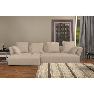 York Harvest Microfiber Sectional Sofa With Chaise