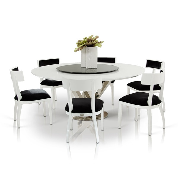 Modrest A Amp X Spiral Modern Round White Dining Table With