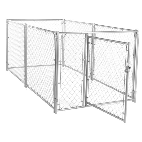 Lucky Dog 4 H X 5 W X 10 L Modular Chain Link Kennel Kit