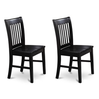Simple Living Slat Black Rubberwood Dining Chairs Set Of