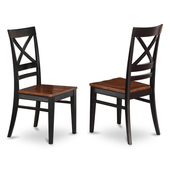 Tribecca Home Acton Warm Merlot X Back Casual Dining Side: Quincy Wooden Seat X-back Dining Chair