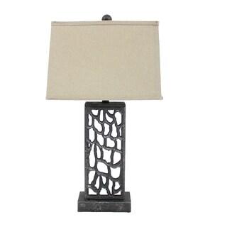 Mocha Metal Table Lamp With Cream Shade 10357806