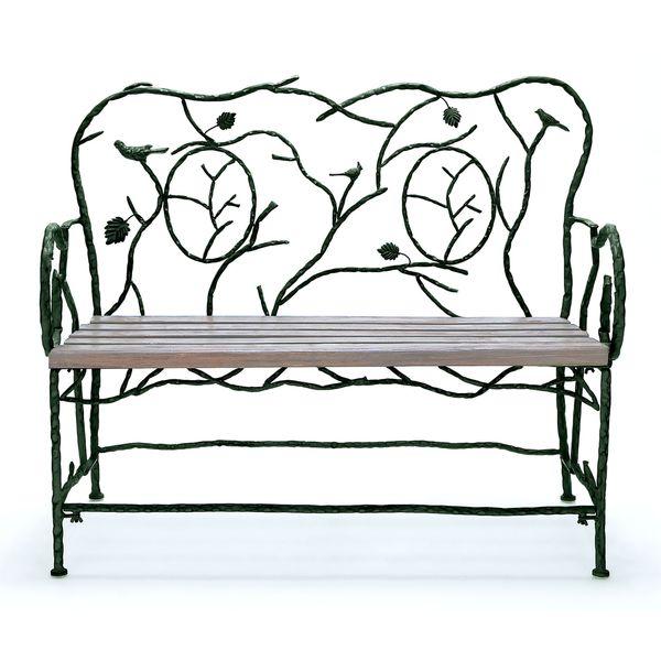 Metal Wooden Decorative Bench 17292883 Overstock Com