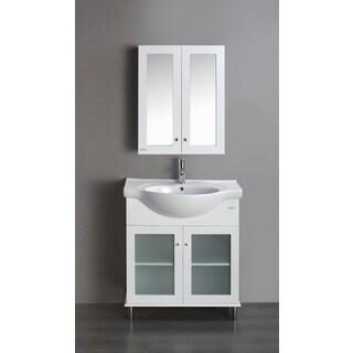 Eviva Tux 30-inch Vanity, White
