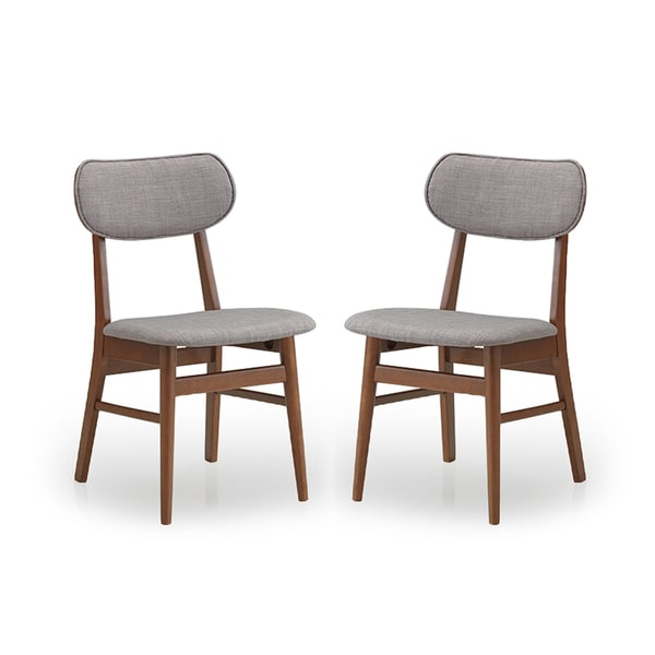 Set Of 2 Sacramento Mid Century Solid Wood Dining Chairs