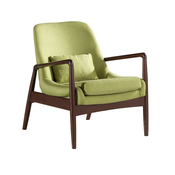 Dixon mid century modern green fabric upholstered club - Modern upholstered living room chairs ...