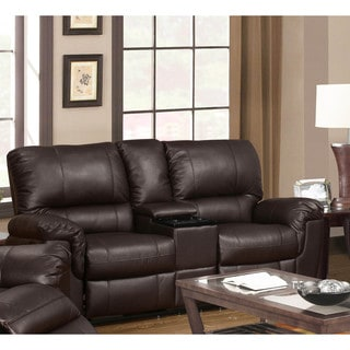 Furniture Of America Menezi Brown Bonded Leather Reclining