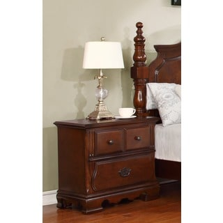 Furniture Of America Barath 3 Drawer Antique Dark Oak
