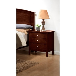 Furniture Of America Mellowi Semi Gloss Brown Cherry