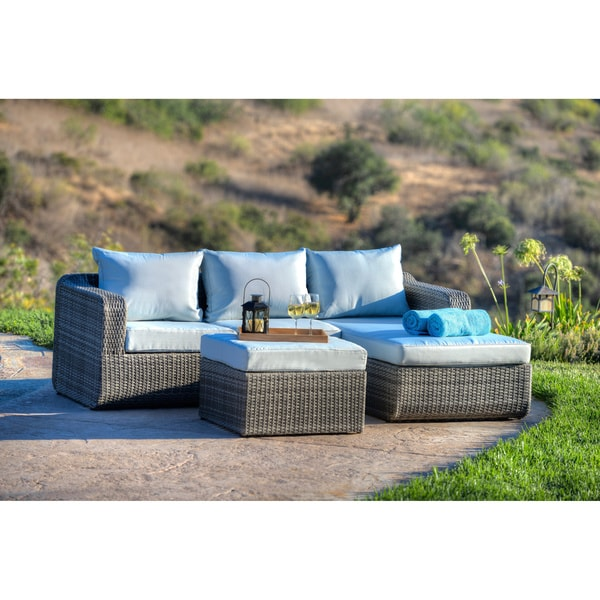 The Hom Luies 3 Piece All Weather Wicker Patio