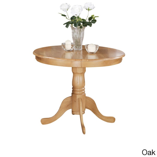 "36 Inch Dining Room Table: Round Pedestal Table Kitchen Living Room Wood 36"" Oak"