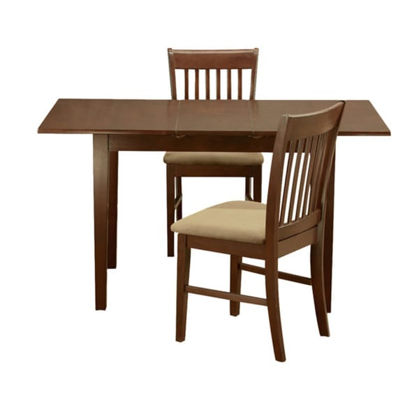 12 Piece Dining Room Set: Mahogany 12-inch Leaf And 2 Dining Room Chairs 3-piece