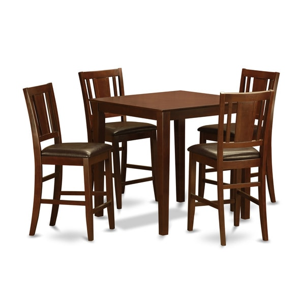 Mahogany Counter Height Table And 4 Stools 5-piece Dining