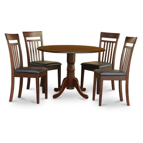 Mahogany Small Table Plus 4 Kitchen Chairs 5-piece Dining