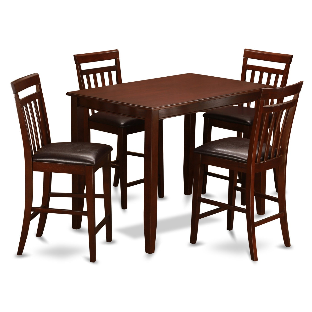 Dining Room Furniture 5pc Mahogany Stained Wood Round: 84 Inch Dining Table Rustic Wood Dining Room Set In Dark