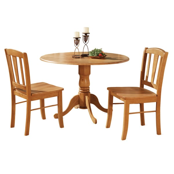 Oak Kitchen Sets: Oak Kitchen Dining Nook And 2 Dinette Chairs Chairs 3