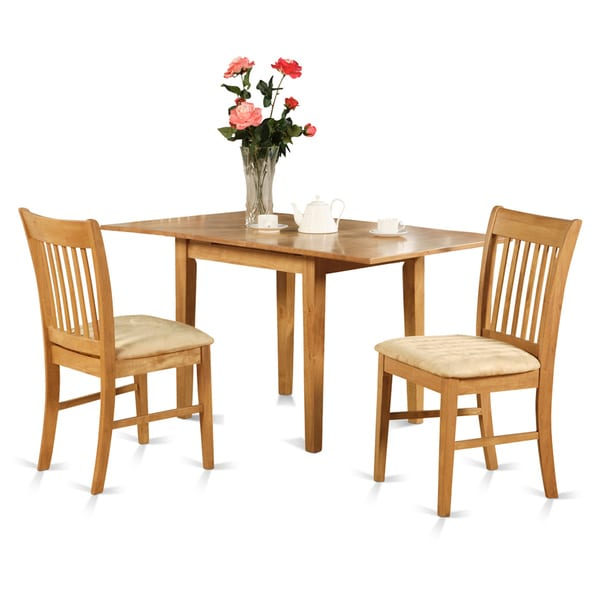 Oak Kitchen Tables And Chairs Sets: Oak Small Kitchen Table And 2 Kitchen Chairs 3-piece