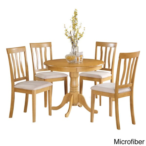 Oak Kitchen Sets: Oak Small Kitchen Table And 4 Chairs Dining Set