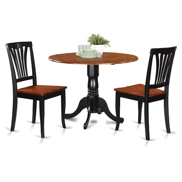 Cherry Kitchen Table Set: Black And Cherry Kitchen Table And 2 Kitchen Chairs Dining