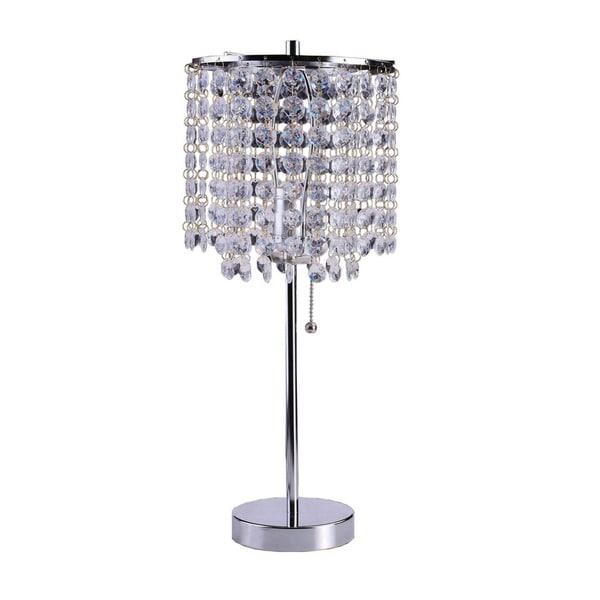 Art Deco Glam Dangling Crystal Table Lamp 17326821