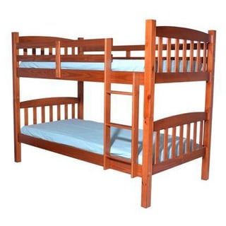 Solid Wood Cherry Twin Twin Bunk Bed 12627271