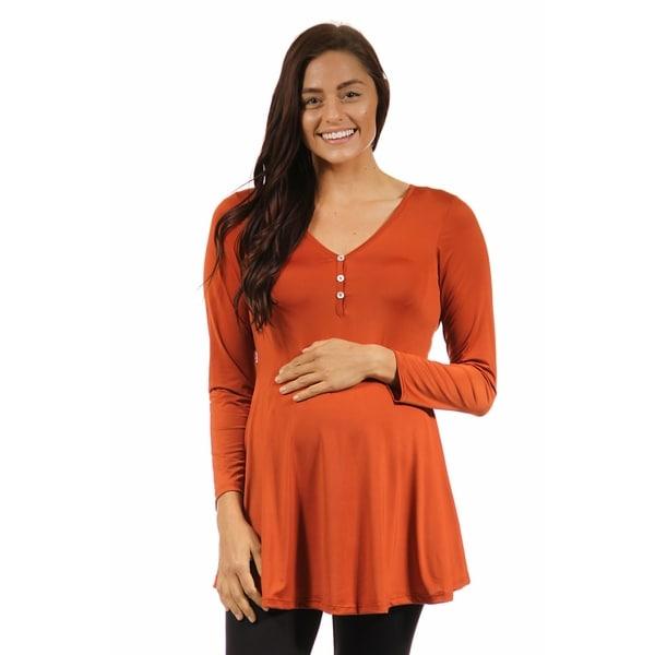 24 7 Comfort Apparel Women S Long Sleeve Three Button