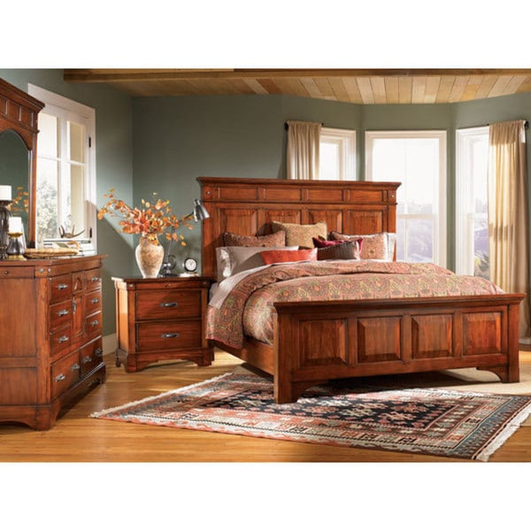 Real Wood Bedroom Sets Bedroom Curtains And Matching Bedding Bedroom Under Eaves Master Bedroom Bed: Simply Solid Ike Solid Wood 6-piece King Bedroom