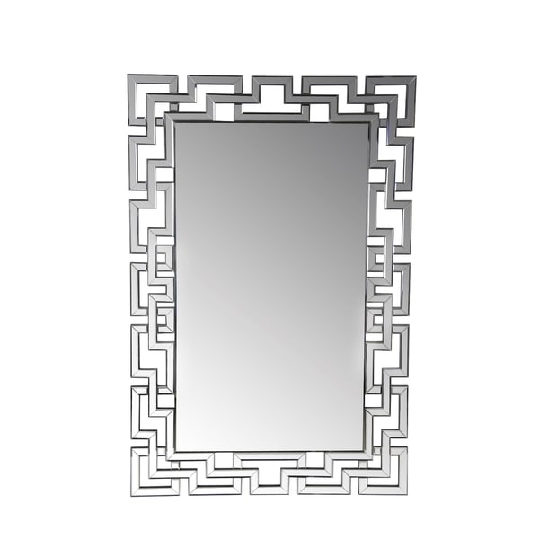 Privilege Geometric Chain Beveled Wall Mirror 17336520