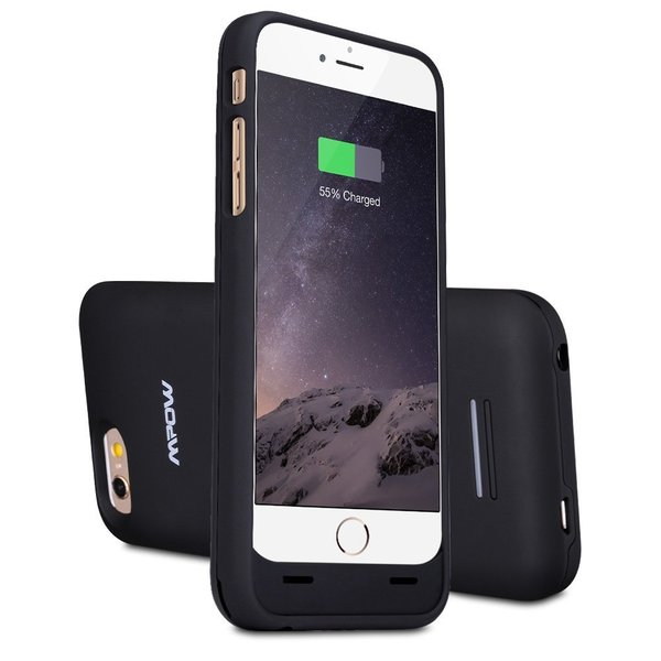 Mpow MFI Certified 3100mAh External Battery Backup Phone Case for Apple iPhone 6