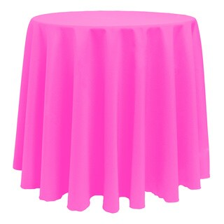 Solid Color 90-inches Round Colorful Tablecloth - 90