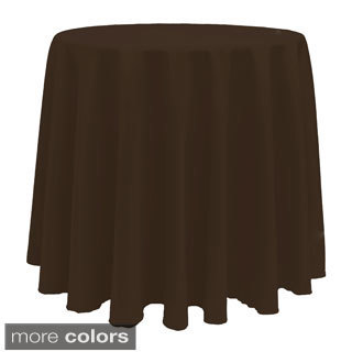 Vibrant Solid Color 90-Inch Round Tablecloth