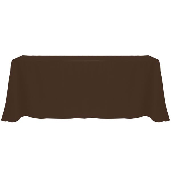 Solid Color 90x132-inch Colorful Oval Tablecloth