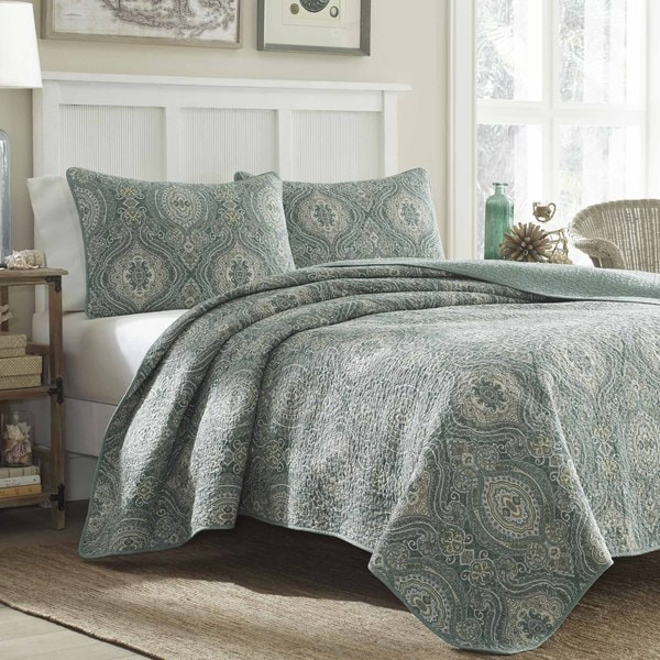 Tommy Bahama Turtle Cove 3 Piece Quilt Set Overstock