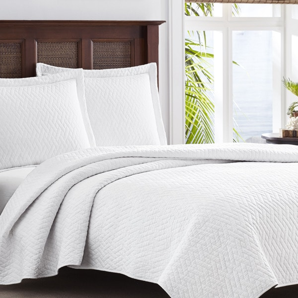 Tommy Bahama Chevron White 3 Piece Quilt Set 17344380
