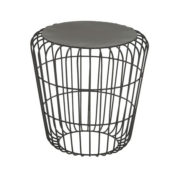 Round Wire Side Table Black 17346836 Overstock Com