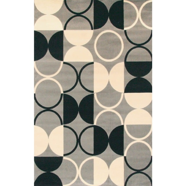 Pluto Rectangle Grey Area Rug by Greyson Living - 5'3 x 7'6
